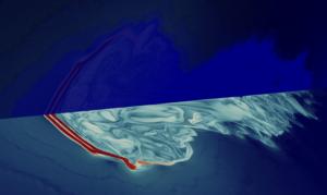 Schlieren liquid density 3D and AMR